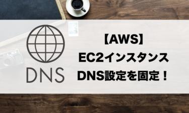【EC2】Amazon Linux2でDNS設定を静的にする